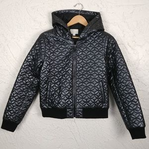 Hinge Seattle Quilted Cropped Hooded Jacket